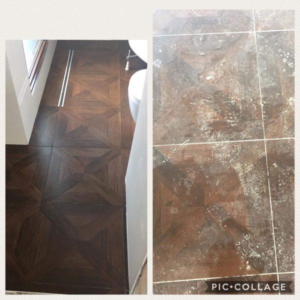 Почистване на под след ремонт
