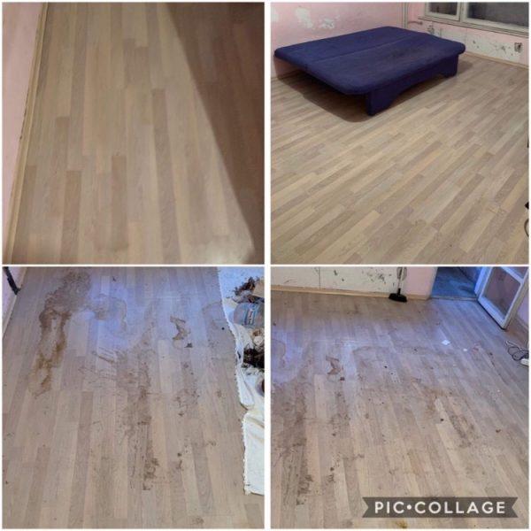 Почистване на под в стая