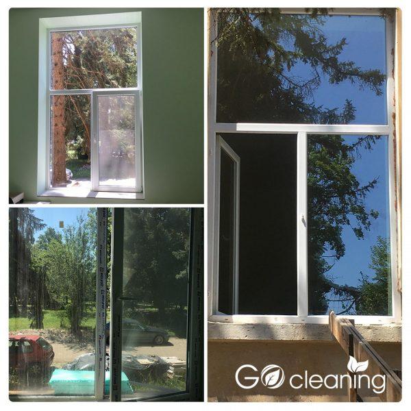 Почистване на дограма и прозорец