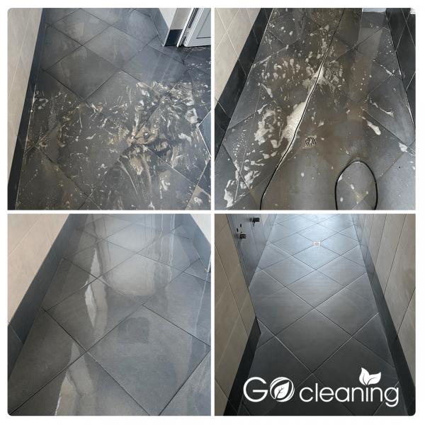 Почистване на плочки в тоалетна