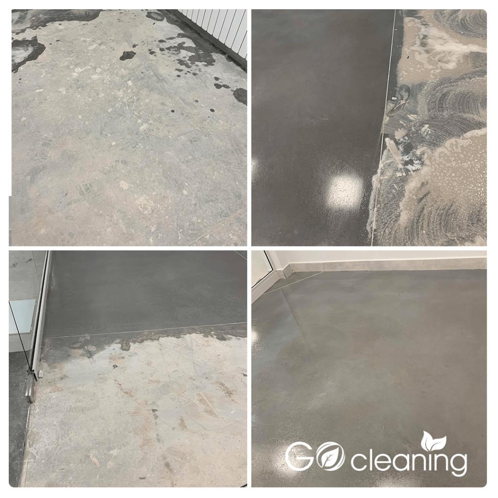 Почистване на под в офис