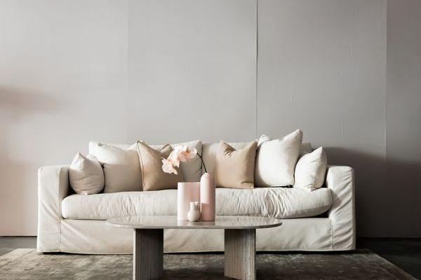 мека мебел 3 - бял
