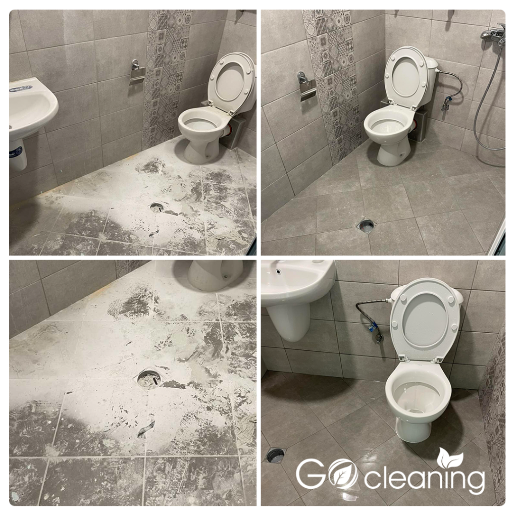 Почистване на тоалетна след ремонт