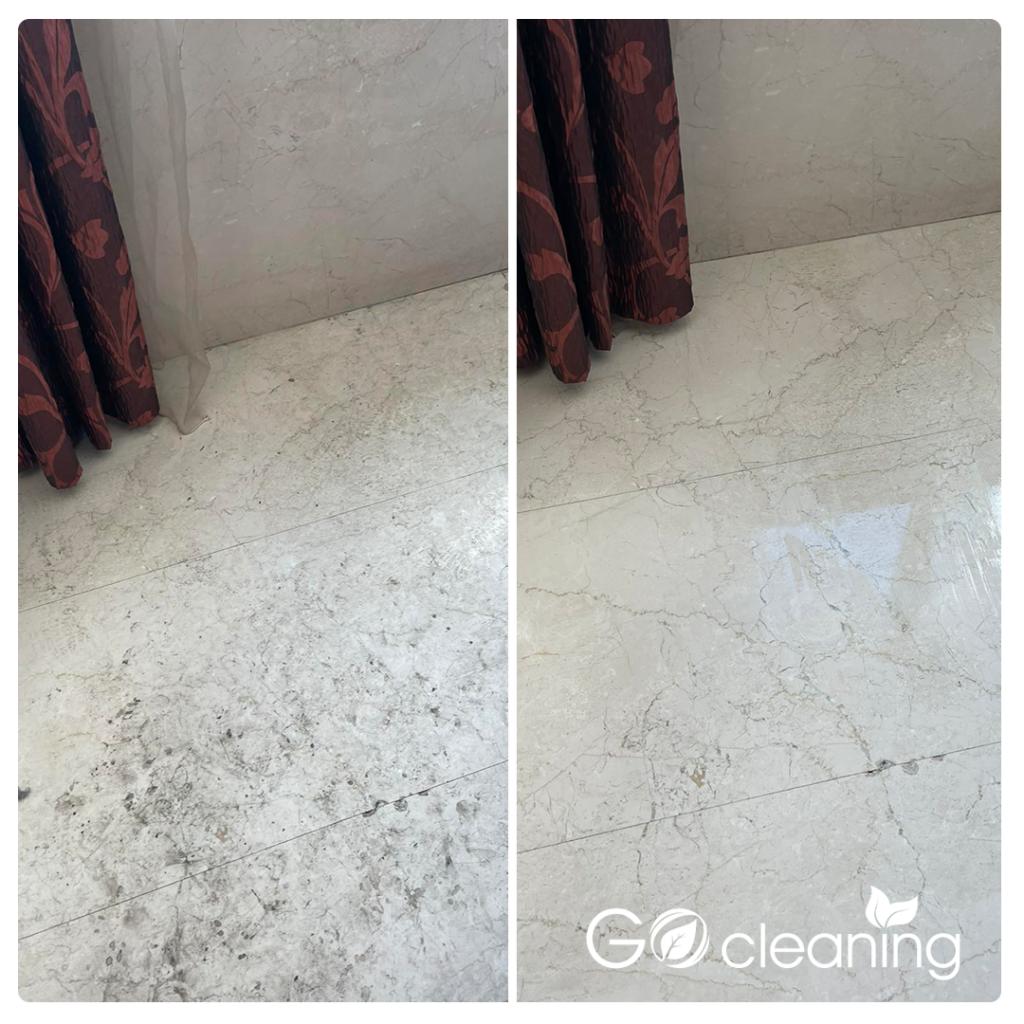 Почистване на мраморен под